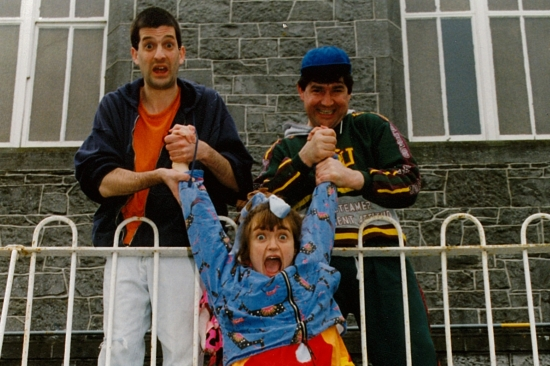 1-2-3 O'Leary - 1993 - Kevin (Jonathon Saiankey), Mary (Helen Walsh) and Davy (Dennis Conway)