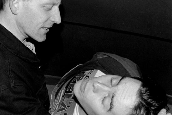 Tony (Stephen Dunne) and Eddie (Alan Smyth)