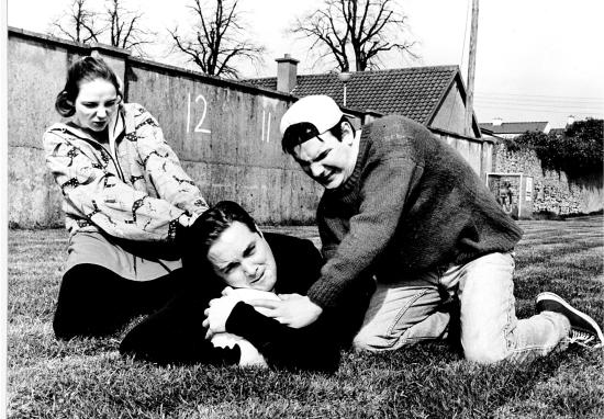 Dee-Dee (Aoife O'Beirne), Doc (Ben Palmer) and Digger (John Desmond)