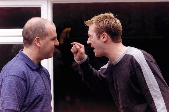 Joe Byrne (Dermot Byrne) and Eddy Byrne (Eoin Slattery)