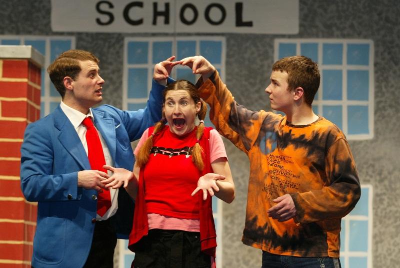 Digger (Martin McCann), Dee-Dee (Sarah Dillon) and Doc (Alan Walsh)