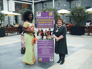 Awa Ndurd with Catherine Connery, Cathaoirleach, Kilkenny County Council.