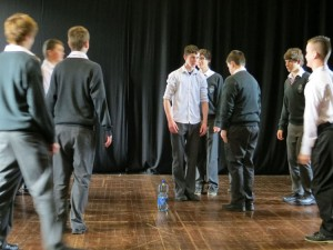 Group drama session with Transition Years