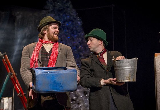 Henry (John Currivan) and Bucket (Paul Curley) catch the rain