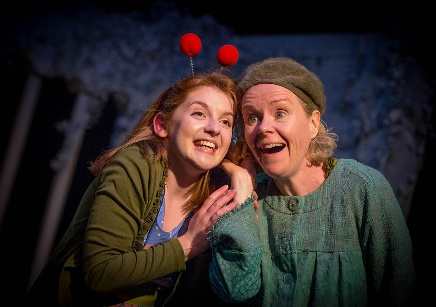 Actors Iseult Casey and Noelle Brown in Monday's Child